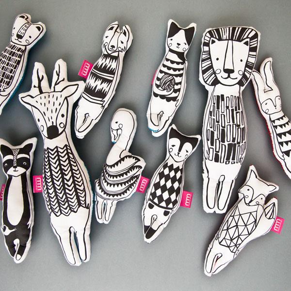 projekt graficzny nadruku zwierząt maskotek
