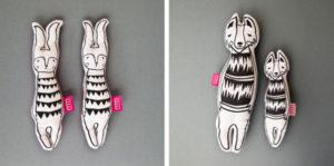 projekt maskotki zając i wilk