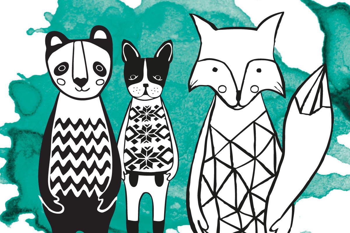 zwierzęta z serii animals ilustrowane techniką grafiki komputerowej