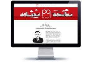 projekt strony internetowej dla pq