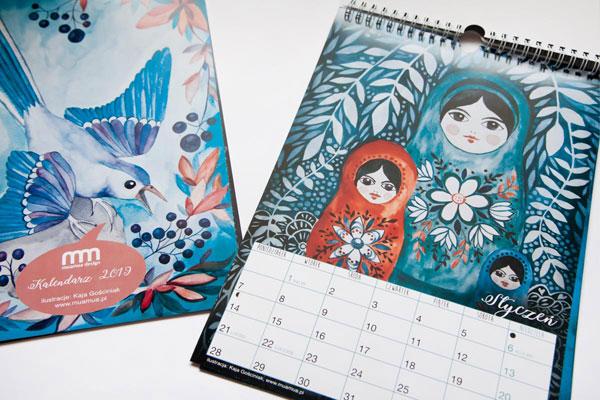 kalendarz z ilustracjami Kai Gościniak