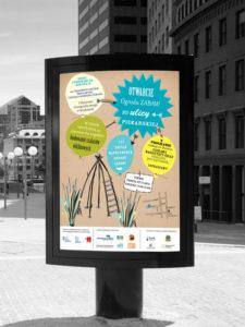 projekt graficzny plakatu w citylight