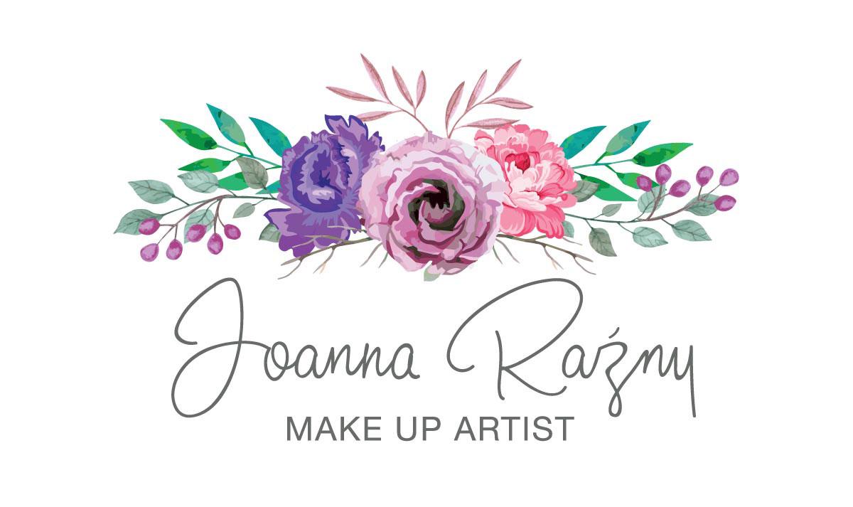 logo z kwiecistą grafika dla make up artist
