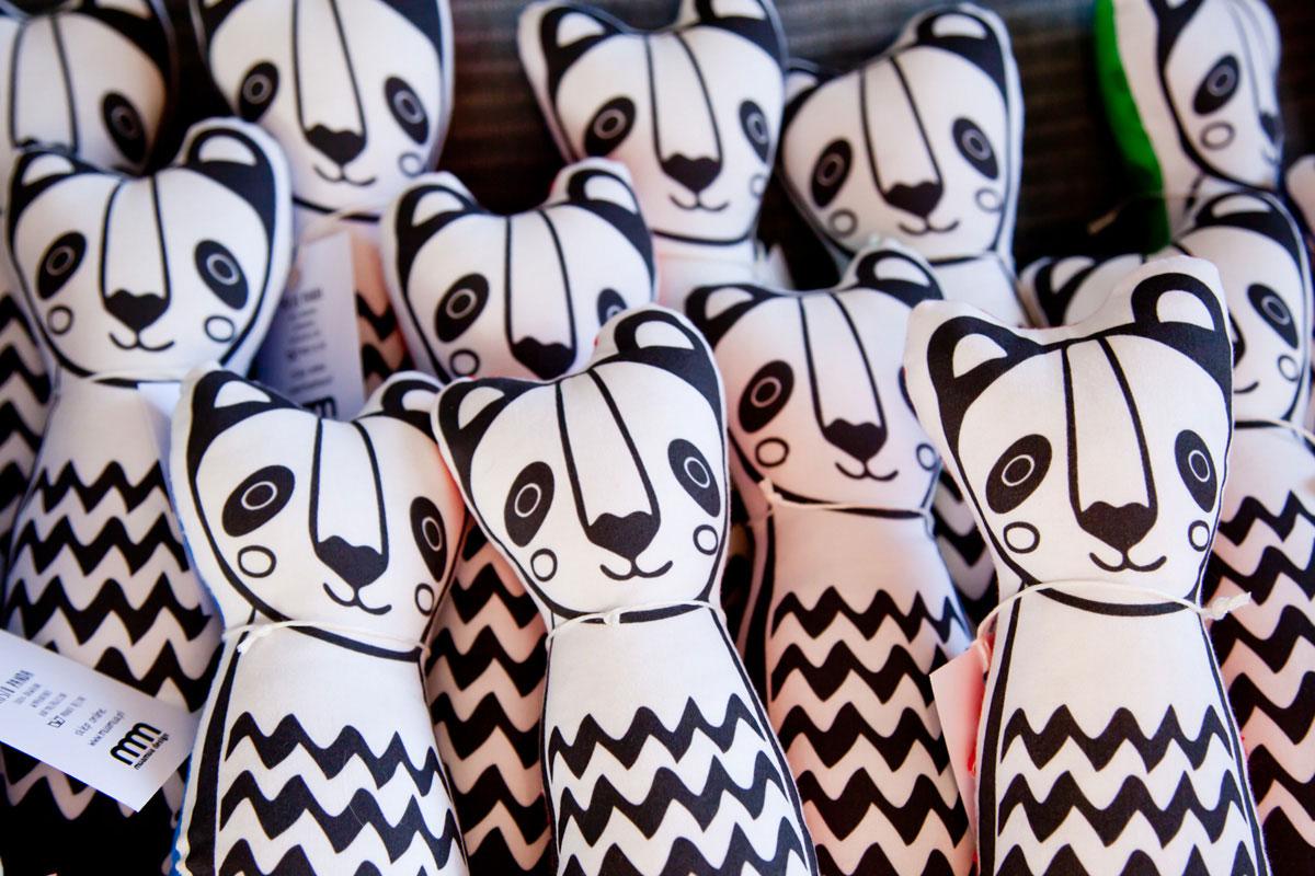 maskotki Panda - projekt graficzny