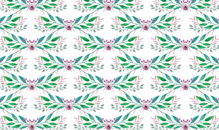 grafika kwiatów w kolorach zielonych