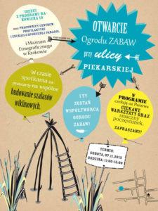 projekt plakatu dla ogrodu zabaw