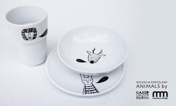 porcelana z kolekcji animals