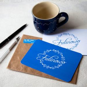 zaproszenie fulinowo z porjektem graficznym logo