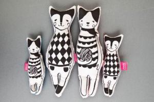 maskotki kotki uszyte z kolekcji animals