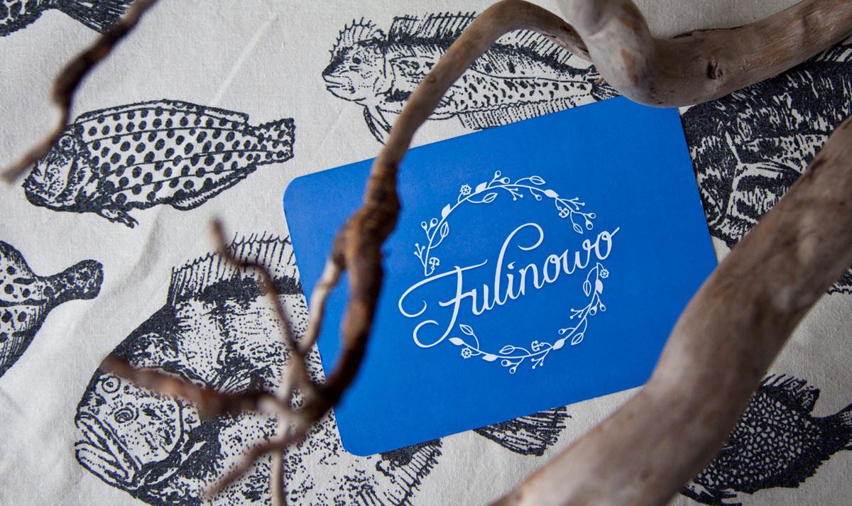 projekt logo fulinowo wydrukowany na kartce