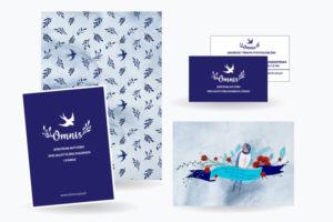 identyfikacja wizualna logo i wizytówki firmy Omnis