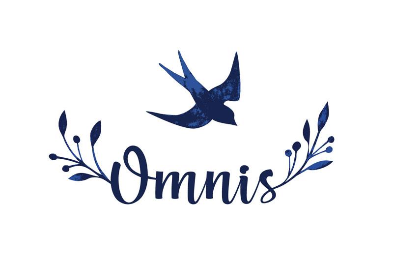logo dla omnis z jaskółką