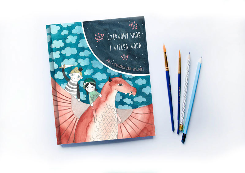 okładka książki dla dzieci o smoku i królewiczu