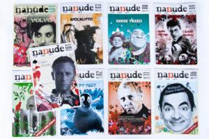 ilustracje na okładkach magazynu filmowego