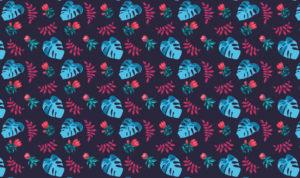 motyw liści na tkaninie