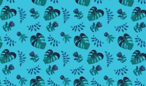 wzór tkaniny z motywem liści