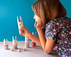 kreatywna zabawa króliczkami dla dzieci