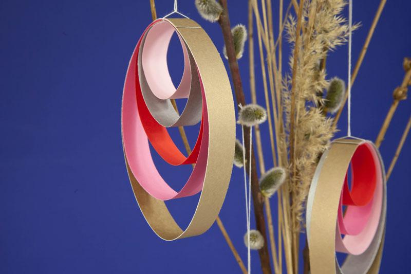 projekt jajka z papierowych pasków ozdoba wielkanocna