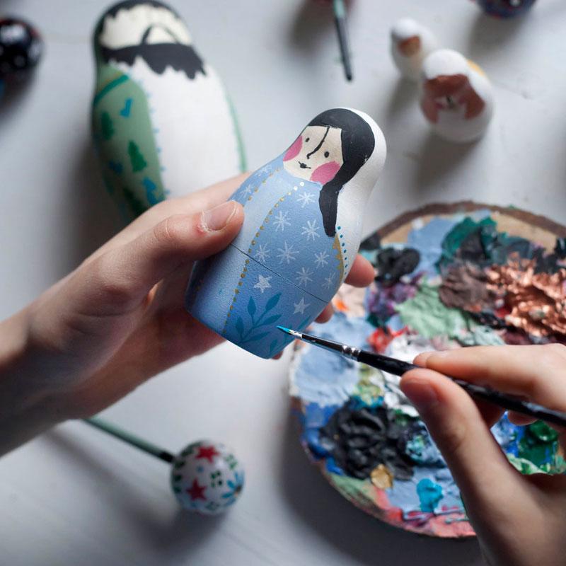 malowanie matrioszki maryji
