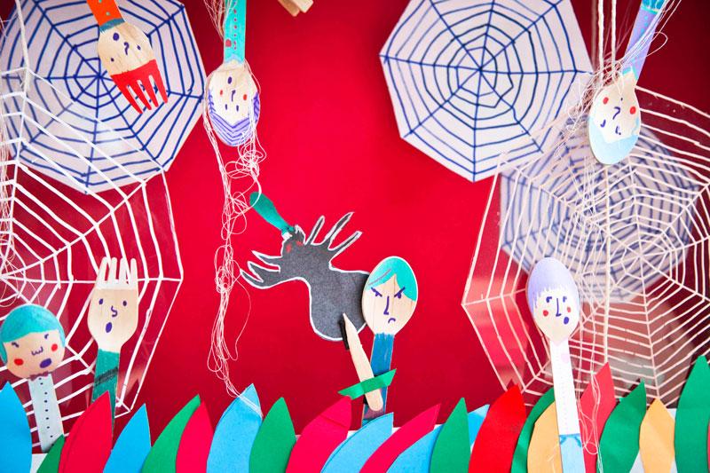 pająk, który złapał dzieci do sieci, ilustracja do książki