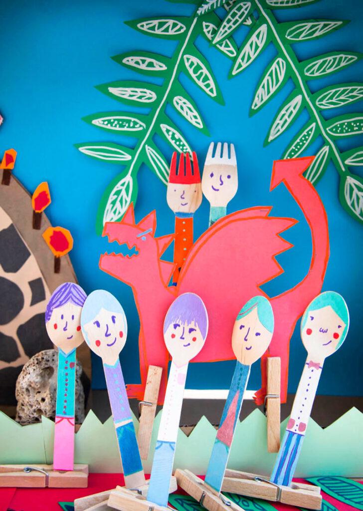 smok i dzieci - ilustracja do książki
